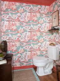 small bathroom wallpaper ideas small bathroom ideas on a budget hgtv
