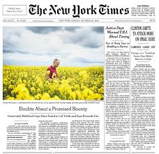 the new york times has ny times floods front page with fbi letter stories while