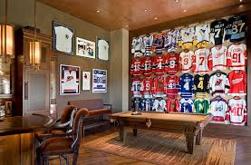 Interior Design On Wall At Home Framed Jerseys From Sports Themed Teen Bedrooms To Sophisticated