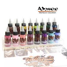 world famous ink a d pancho proteam colorset 16x30ml
