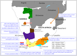 Map Of Southern Africa complex patterns of genomic admixture within southern africa