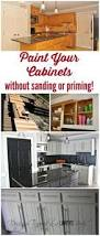 Can You Paint Kitchen Cabinets Without Sanding How To Paint Cabinets Or Furniture Gardens Furniture And Wood