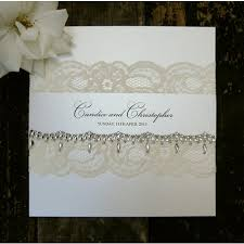 Lace Wedding Invitations Crystalle Lace Wedding Invitations