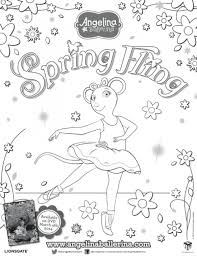 free angelina ballerina coloring pages 492358