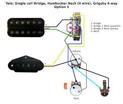 tele single coil bridge humbucker neck wiring