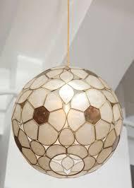 Globe Light Fixtures 1960s Capiz Shell Floral Globe Light Fixture At 1stdibs