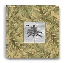 tropical photo album pioneer photo albums 200 pocket tropical leaves fabric