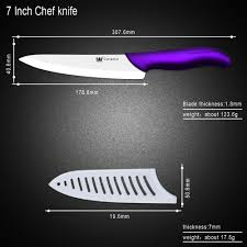 essential kitchen knives 7 inch kitchen ceramic knife best sharpest white blade purple