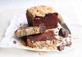 dark chocolate banana bread with peanut butter crumble the sweet