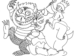 where the wild things are coloring pages to print coloring page