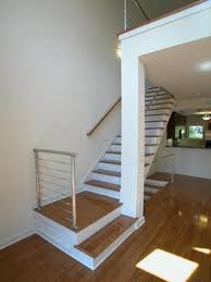 Wooden Stair Banisters Wood Contemporary Stair Railing Ideas All Contemporary Design