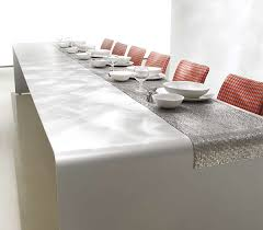 white mdf table top modern dining table decorating idea by mdf italia