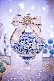 sweet 16 table centerpieces winter woodland graduation end of school party ideas candy