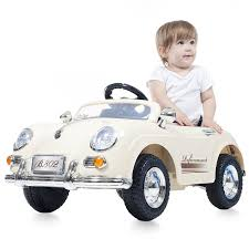 toddler motorized car amazon com ride on toy car battery operated classic sports car