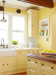 Yellow Kitchens With White Cabinets - yellow kitchen cabinets pleasant design ideas 21 pictures of