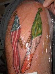 Two Flag Tattoos Literary Flag Tattoos On Ribs Tattoo Design And Ideas Day Of The