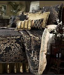 Marvelous Black And Gold Bedroom Design Black Gold Bed Set - Black and gold bedroom designs