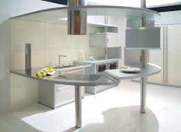 Futuristic Homes Interior Impressive Kitchen Island Design Ideas Top Home Designs Curvy