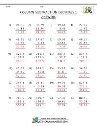 5th grade subtraction 5th grade math practice subtracing decimals