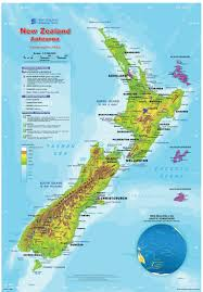Geographical Map Geographic Map Of New Zealand