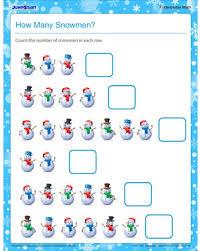 how many snowmen u2013 math printable to teach addition u2013 jumpstart