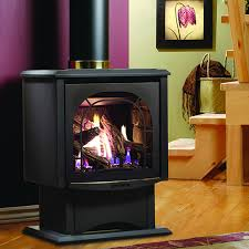 Dual Gas And Wood Burning Fireplace by Kingsman Fdv200 Free Standing Direct Vent Gas Stove