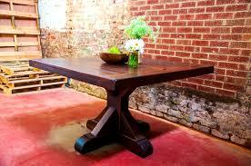 Square Pedestal Table Furniture Appealing Rustic Trades Furniture Atlanta Denver