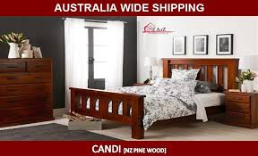candi bed frame solid nz pine wood