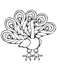 simple peacock coloring pages 14533 bestofcoloring com