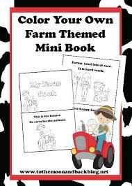 mini farm themed coloring book u2013 free printable