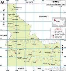 map of idaho cities latitude and longitude map
