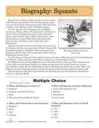 squanto biography choice free printable and social studies