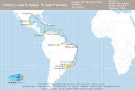 Central South America Map by Msc And Zim Adjust Their Central And South America Services