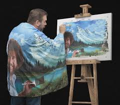 bob ross u0027s happy little blanket thinkgeek