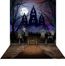 halloween graveyard photo backdrops and backgrounds