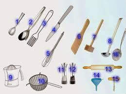 la classe de français dans la cuisine objets de la cuisine