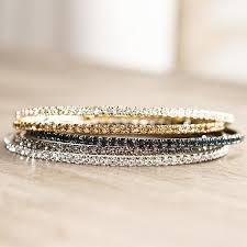 multi color swarovski crystal bracelet images Flexible swarovski crystal bracelet clear silver kelly 39 s treasure jpeg