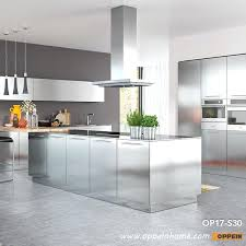 modern clean lines stainless steel kitchen cabinet ikea uk
