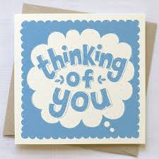 thinking of you cards thinking of you card by snowdon design craft