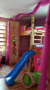 bunk beds donco loft bed with slide loft bed with stairs and