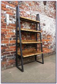 metal and reclaimed wood bookcase bookcase best home design