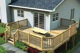 multi level deck w angle corners project plan 90041 decking