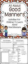 top 25 best manners activities ideas on pinterest manners