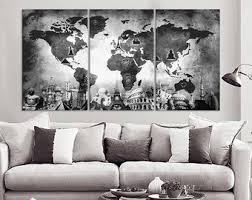 Home Interior Wall Hangings Art Canvas Print Panels By Boxcolors By Boxcolors On Etsy