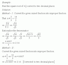 finding square root of common fraction high mathematics
