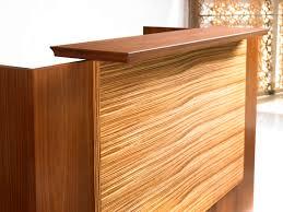 Reception Desk Wood by Corner Reception Desk Modular Wooden Laminate Central Park