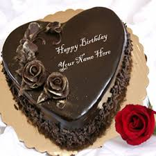 online name write heart shaped chocolate birthday cakes photos free