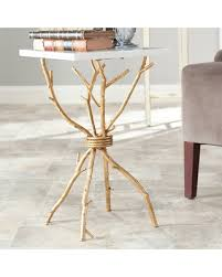 Gold Accent Table Spectacular Deal On Safavieh Marble Top Gold Accent Table