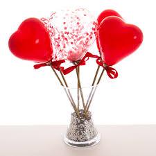 heart balloons s confetti mini heart balloon wands by bubblegum balloons