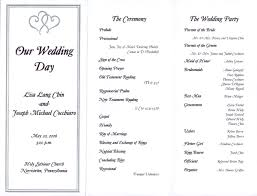 Examples Of Wedding Programs 7 Best Images Of One Page Wedding Program Wording One Page
